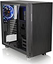 Thermaltake Suppressor F31 Tempered Glass Edition SPCC ATX Mid Tower Tt LCS Certified Ultra Quiet Gaming Silent Computer Chassis CA-1E3-00M1WN-03, Black