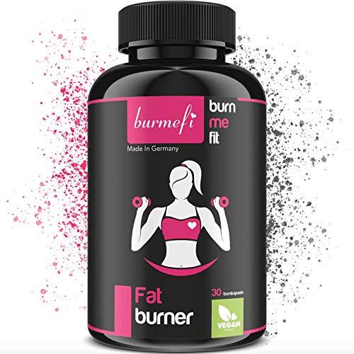 BURMEFI Fatburner VEGAN - Schnell & Effektiv abnehmen + Stoffwechselanregend + Diät + Hochdosiert + Hergestellt in DE + Nahrungsergänzungsmittel + 30 Kapseln