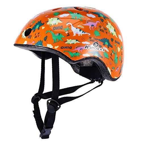 BESPORTBLE Casco da Bici per Bambini Roller Ciclismo Pattinaggio in Bicicletta Skateboard Caschi Multi-Sport per Protezione E Confortevole Arancione