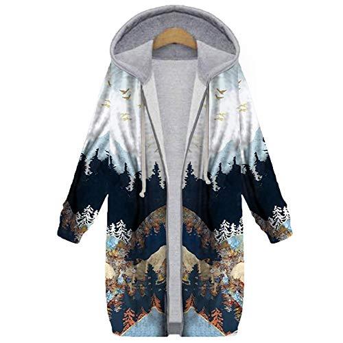 XOXSION Parka para mujer, chaqueta de invierno con capucha, vintage, moderna, elegante abrigo de felpa, chaqueta gruesa de invierno, chaqueta de invierno cálida con capucha, abrigo de piel gris XL