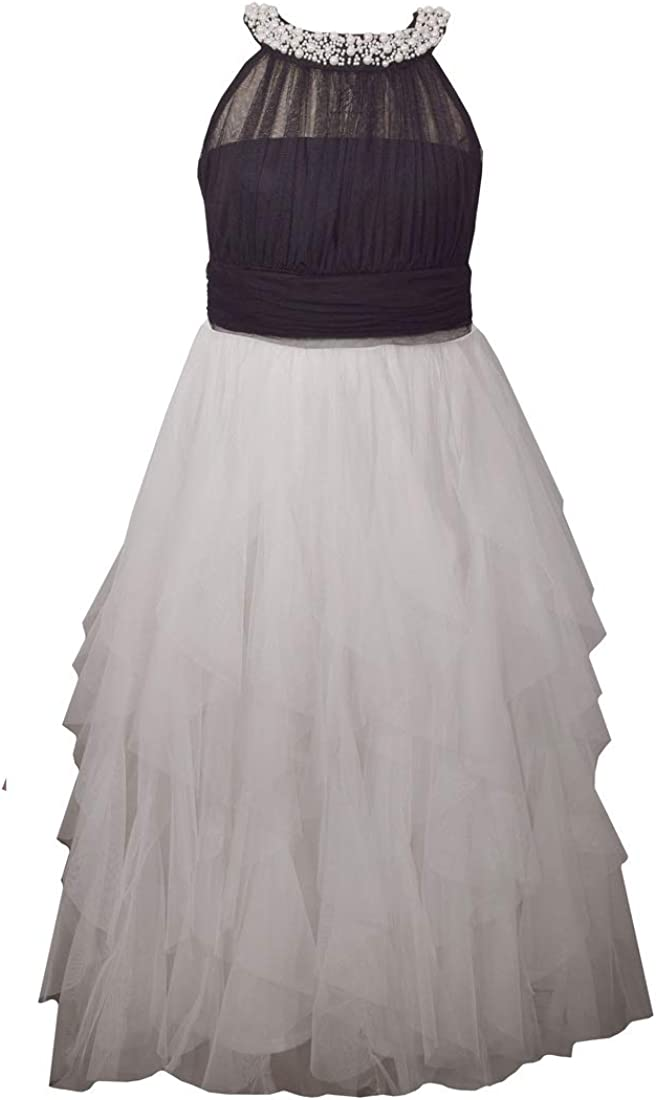 Bonnie Jean Girl's Special Occasion Japan Maker New Quality inspection Black and Prom Dress White
