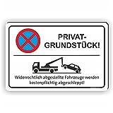 PRIVATGRUNDSTÜCK - Parken verboten Schild / PV-002 (60x40cm Schild)