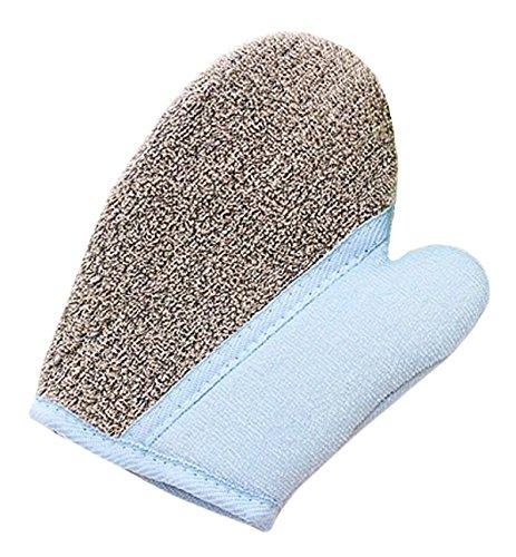 Serviette de bain Épaissir mignon accessoire mousse Glove Bath-Bleu