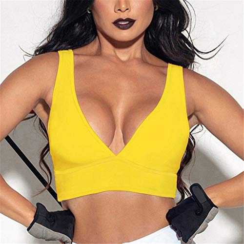 sakkdaull 3pcs Bras Cheap Bras Summer Sexy Underwear for Women Tank Tops Crop Vest Yellow XL