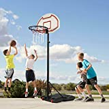 Houssem Height Basketball Hoop Adjustable, Free Standing Portable Basketball Hoops for Outdoors,5.9ft to 7.0ft