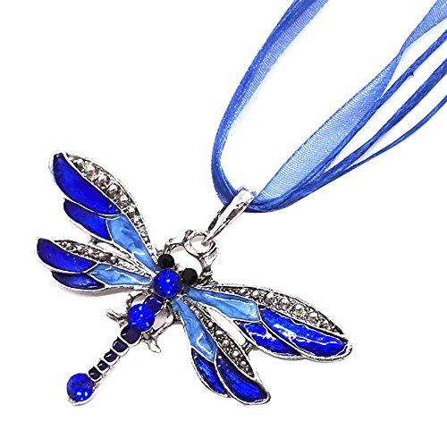 Gmgod Cadena de suéter de libélula, collar de diamantes colgante suéter cadena joyas regalo de cumpleaños - Multi color - Talla única