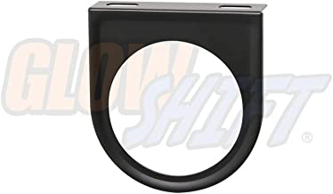 GlowShift Universal Black Single Gauge Mounting Bracket Pod - Fits Any Make/Model - Mounts (1) 2-1/16