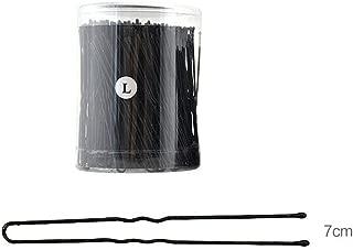 250pcs/Box Black Metal Pins Waved U Shaped Hair Pins Bun Pins Hair Slides Grips Hair Accessory For Women Girl Buns Up-Dos (2.75inch-7cm)