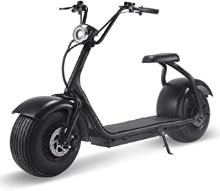 2000w Motor Lithium Electric Scooter for Adults, Fat Tire Electric Scooter with Seat, LCD Display, Bright LED Headlight, H...
