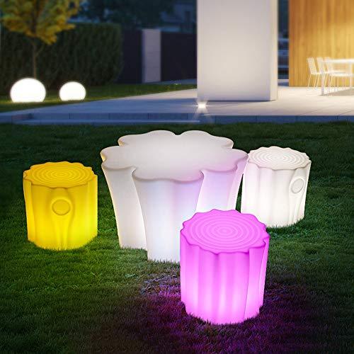 LED Tavolo luminoso e decorazioni sedia da giardino lampada esterna di ricarica USB Stump sgabello Tavolino Tavolo e luce sedia (Color : Table)