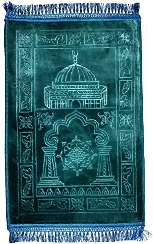 Muslimischer Gebetsmatte, super weich, extra dick, Größe XXL, 80 x 120 cm, sehr bequem, einfarbig