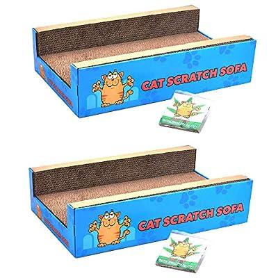 Cat Scratch Sofa Lounge Cardboard Cat-Nip Refil