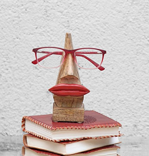 Kamla Sellers Quirky Wooden Nose Shaped Eyeglass Spectacle Holder Display Stand Home Decorative Gifts