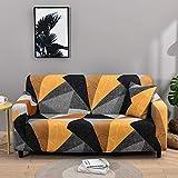 WXQY Funda de sofá elástica para Sala de Estar Funda elástica Antideslizante Funda de sofá seccional Funda de sillón de Esquina en Forma de L A4 4 plazas