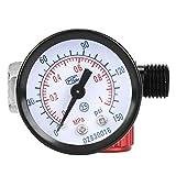 Regulador de presión de filtro BSP 1/4in Regulador de aire Manómetro de aleación de aluminio para compresor y herramientas de aire fácil de instalar