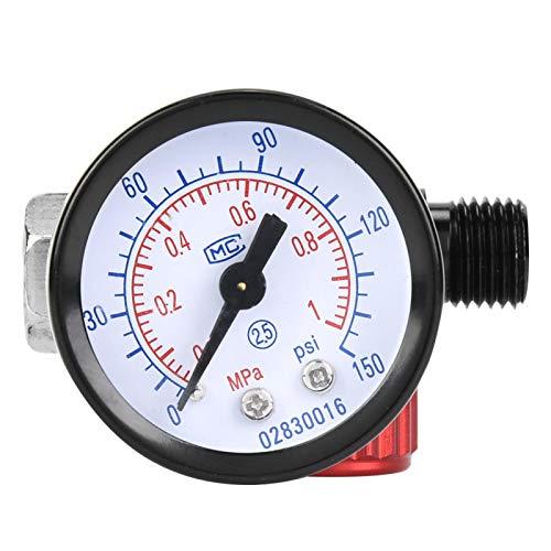 Manómetro de presión de aire, herramienta neumática, duradero, profesional, pequeño BSP 1/4 pulg. Para herramienta neumática para pistola pulverizadora