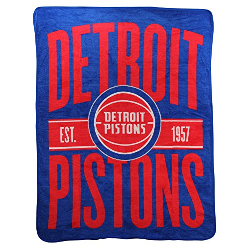The Northwest Company Officially Licensed NBA Detroit Pistons Clear Out Micro Raschel Throw Blanket, 46' x 60', Blue