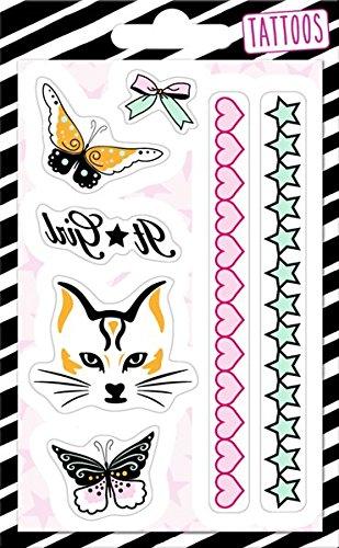 Spiegelburg Juegos Juguetes Disfraces Disfraces Accesorios Tatuajes Temporales Niños Gato Mariposa Corazones
