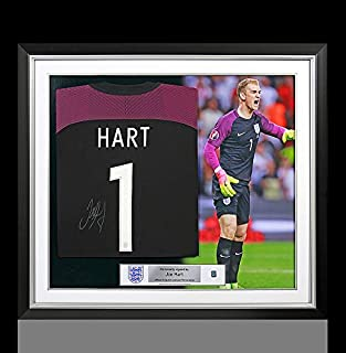 Joe Hart Official England Back Autographed Signed Signed and Framed 2016-17 England Goalkeeper Shirt - Certified Authentic
