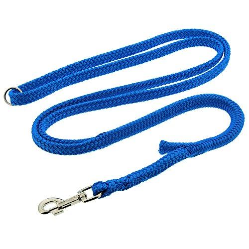 Dinoleine Hundeleine, Längenverstellbar, Inkl. Standard Messing-Karabiner, Polyester, Maße: 130-220 cm, Blau, 201111