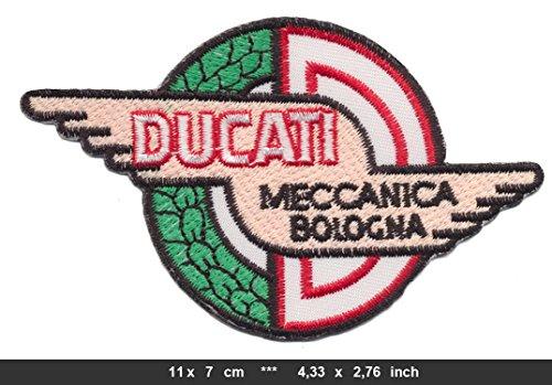Ducati Patch Aufnäher Aufbügler Motorrad Meccanica Bologna DUC05