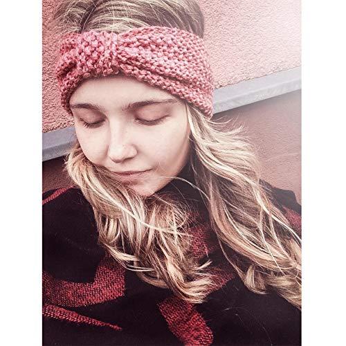 DRESHOW Damen Schleife Design Stirnband Winter Kopfband Haarband Stirnband Häkelarbeit - 6