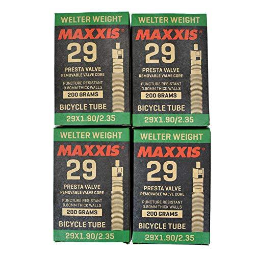 Maxxis Welter Weight 29 x 1.90-2.35 Bike Inner Tube Presta FV, 4 Pack, STB2028-4
