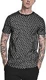 Urban Classics Herren T-Shirt Allover Logo Tee, Schwarz (Black 00007), X-Large (Herstellergröße: XL)