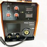 ハイスペック MIG200 電圧100V/200V通用 インバーター半自動溶接機 MIG/MAG/CO2/MMA 50/60HZ ノンガスワイヤー可