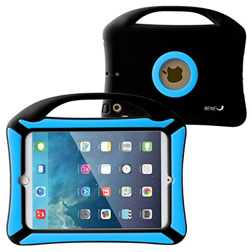 BeneU iPad Mini 3 2 1 Case for Kids Tablet Protective Case Children Shockproof Drop Proof Soft Silicone Portable Lightweight Handle Case Cover for iPad Mini Retina Display and iPad Mini 3 2 1 Black