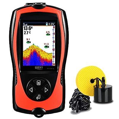 LUCKY Portable Fish Finder Handheld Kayak Fish Finders Wired Fish Depth Finder Sonar Sensor Transducer for Boat Fishing Sea Fishing