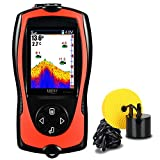 LUCKY con Cable Portátil Sonar para Pesca de Mano Portátil Buscador de Peces Monitor en Color Pesca en Hielo Detector de Peces para La Pesca Barco De Kayak Jon Barco Jet ski