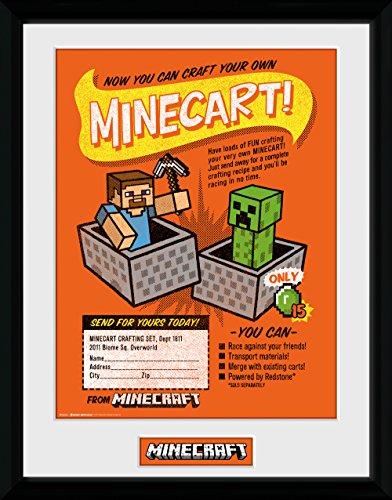 GB Eye Ltd GB Eye Gerahmtes Poster, Minecraft, Handwerk eigene Minecraft, 30x 40cm, verschiedene