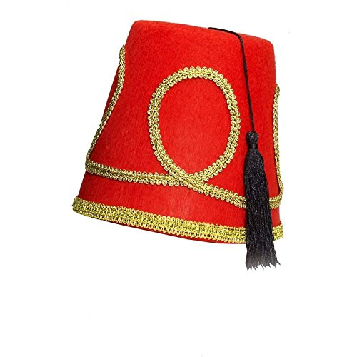 Forum Novelties Deluxe Red Fez Hat One Size Fits Most