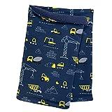 Wollhuhn Pañuelo para el cuello con forro polar ecológico y suave para niños 20001725, color azul oscuro y amarillo