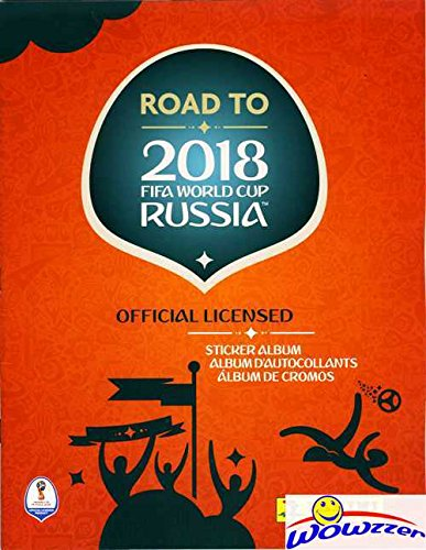 2018 Panini Road to FIFA World Cup Russia Stickers HUGE 64 Page Collectors Album with TEN(10) Bonus Stickers! Great Collectible to Hold all your NEW World Cup Soccer Stickers! WOWZZER! Delaware