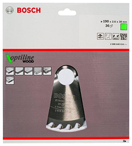 Bosch Zubehör 2608640616 Kreissägeblatt Optiline Wood 190 x 30 x 2,6 mm, 36 - 2