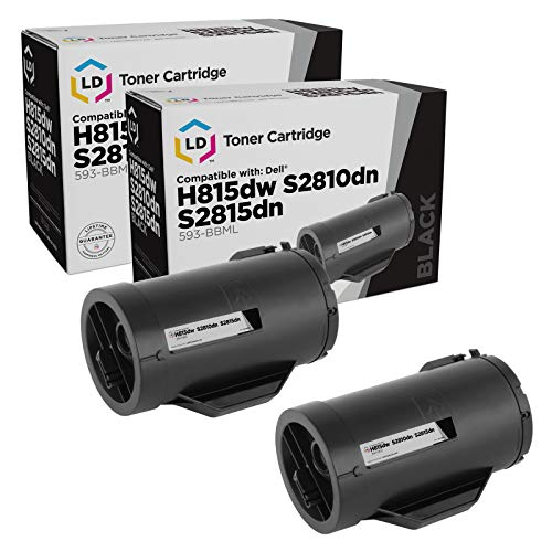 LD Compatible Toner Cartridge Replacement for Dell 593-BBML F9G3N (Black, 2-Pack)