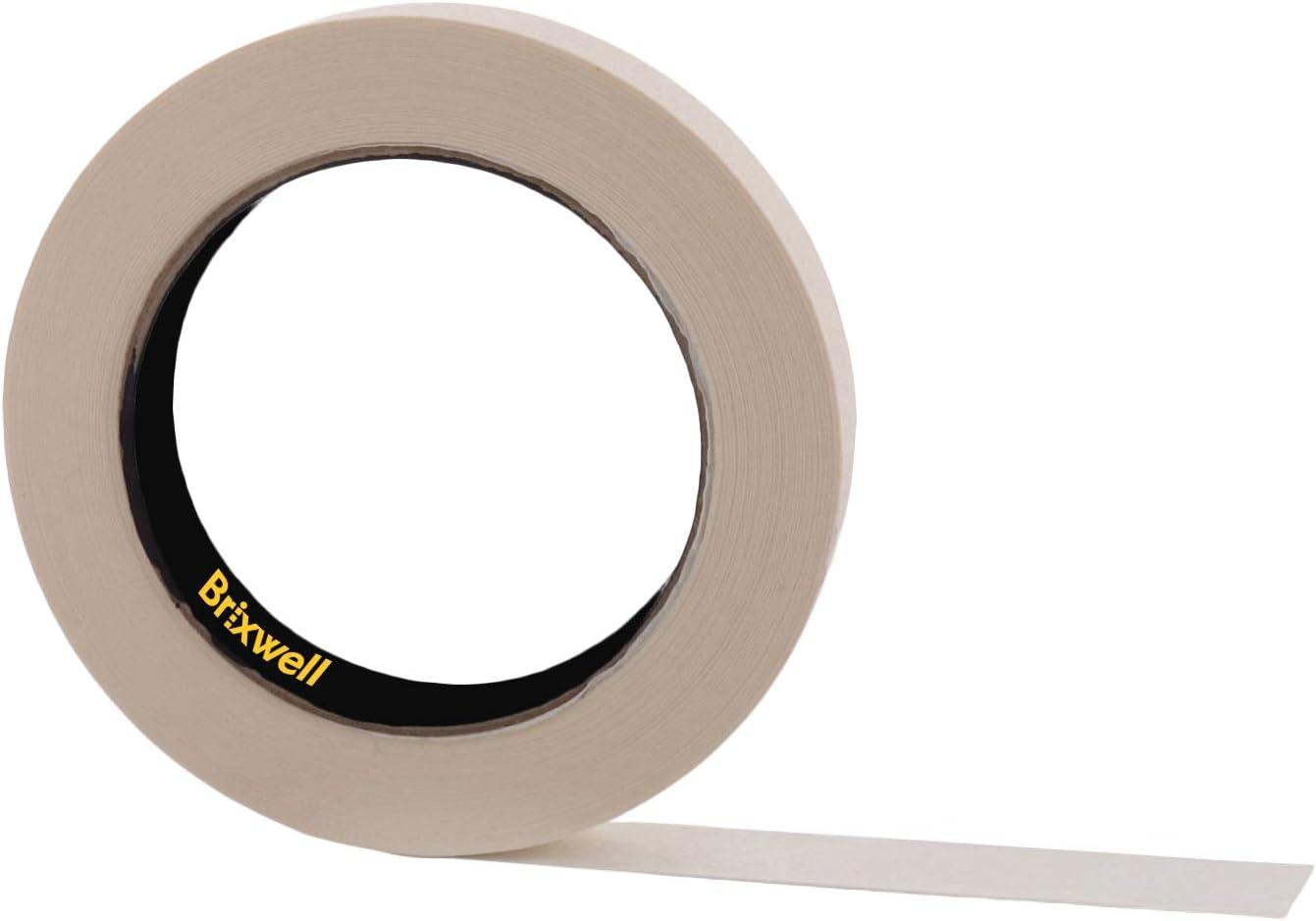 Brixwell Pro Grade Popular General Purpose Popular standard Masking Tan 6 Tape Inch x 3 4
