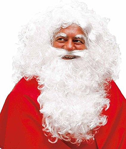 Disfraces - Disfraz - Santa Claus Papá Noel completa Barba con la peluca y cejas