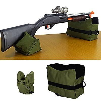 Vbestlife Shooting Gun Rest Bag Set Portable Front & Rear Shooting Bag Rest for Rifle Hunting Bench Bag Rest