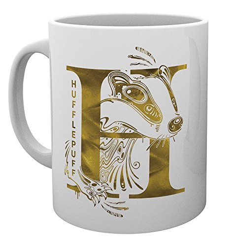 GB eye Harry Potter Hufflepuff Monogramm Tasse, Keramik, 15 x 10 x 9 cm