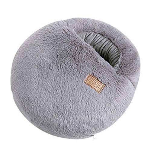 Mehrzweck-waschbarer Winter Plüsch Pantoffel USB-Aufladungsheizung Fußwärmer Für Haus Und Büro #Grey Macaron