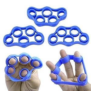 BASDW Finger Trainer Hand Griff Exerciser für Gitarre Bass Ukulele Klavier Violine Musik Spieler BASDW ( Color : Color Blue )