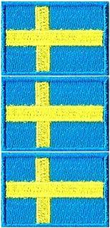 スウェーデン国旗ワッペン SS-3枚セット