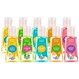 Natural Scents Gel Antibacterial (10 PACK) de 28 ml de 5 aromas diferentes: Juicy Orange, Lemon Pie, Creamy Vanilla, Sweat Berry, Peach Sundae …Contienen aceites esenciales y aloe vera