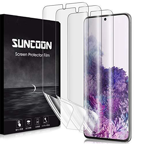 【2020夏改良・3枚セット】SUNCOON Galaxy S20 フィルム 3D全面保護 S20 フィルム SC-51A SCG01 傷自動修復技術 99%高透過率 隅浮き防止 湾曲対応 ギャラクシー S20 液晶保護フィルム