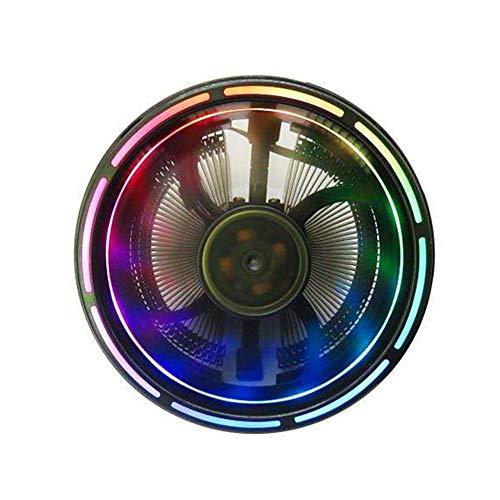 ZHIFDNJ - Ventilador de CPU para ordenador de sobremesa, diseño antideslizante, apertura fina, color sinfónico para ranuras Intel y AMD