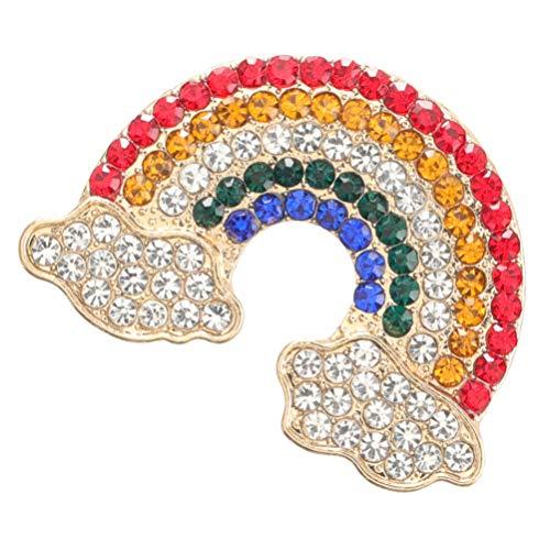 VALICLUD Broche de Arcoíris Broche de Nube de Diamantes de Imitación Broche Creativo Pin de Solapa Broche para Mujer Niñas Ropa Pin Joyería Regalo