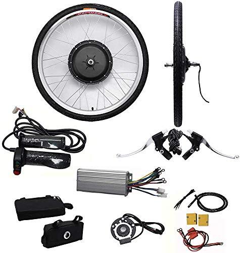 Relaxbx naafmotor 48 V/36 V E-bike-motornaaf ombouwkit voor elektrische fietsen 26 ombouwkit voor voor- / achtermotor voorwiel-pedelec-banden
